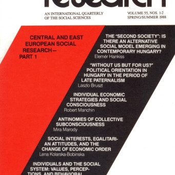CENTRAL AND EAST EUROPEAN SOCIAL RESEARCH: Part I / Vol. 55, No. 1 (Spring 1988)