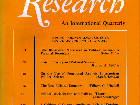 TRENDS AND ISSUES IN AMERICAN POLITICAL SCIENCE / Vol. 35, No. 1 (Spring 1968)