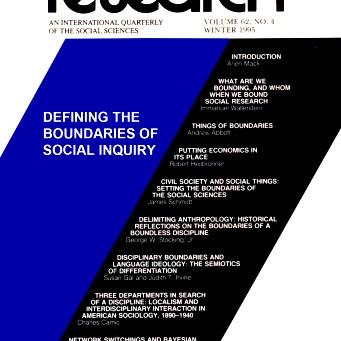 DEFINING THE BOUNDARIES OF SOCIAL INQUIRY / Vol. 62, No. 4 (Winter 1995)