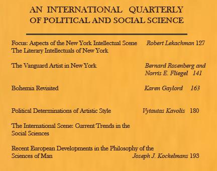 ASPECTS OF THE NEW YORK INTELLECTUAL SCENE / Vol. 32, No. 2 (Summer 1965)