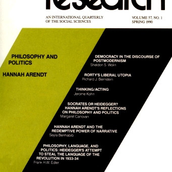 PHILOSOPHY AND POLITICS: Hannah Arendt / Vol. 57, No. 1 (Spring 1990)