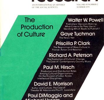 THE PRODUCTION OF CULTURE / Vol. 45, No. 2 (Summer 1978)