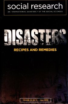 DISASTERS: Recipes and Remedies / Vol. 75, No. 3 (Fall 2008)