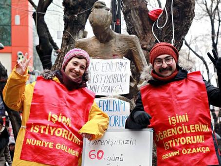 ESW Stands with Nuriye Gülmen and Semih Özakça