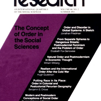 THE CONCEPT OF ORDER IN THE SOCIAL SCIENCES / Vol. 60, No. 2 (Summer 1993)