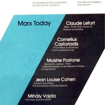 MARX TODAY / Vol. 45, No. 4 (Winter 1978)