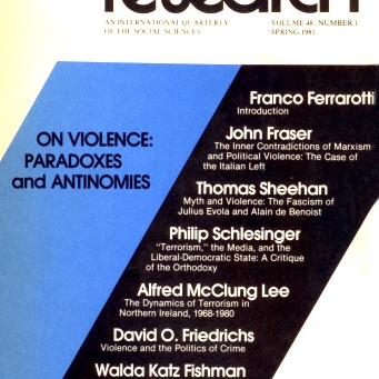 ON VIOLENCE: Paradoxes and Antinomies  / Vol. 48, No. 1 (Spring 1981)