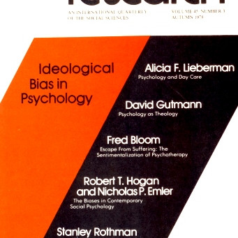IDEOLOGICAL BIAS IN PSYCHOLOGY / Vol. 45, No. 3 (Fall 1978)