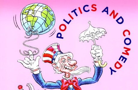 """Front cover of Social Research's """"Politics and Comedy"""" 79(1) issue from Spring 2012."""