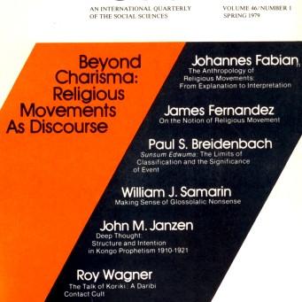 BEYOND CHARISMA: Religious Movements as Discourse / Vol. 46, No. 1 (Spring 1979)
