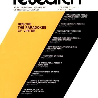 RESCUE: The Paradoxes of Virtue / Vol. 62, No. 1 (Spring 1995)