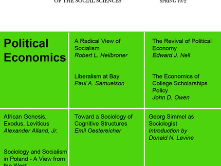 POLITICAL ECONOMICS / Vol. 39, No. 1 (Spring 1972)