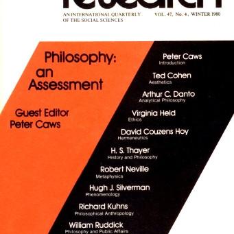 PHILOSOPHY: An Assessment / Vol. 47, No. 4 (Winter 1980)
