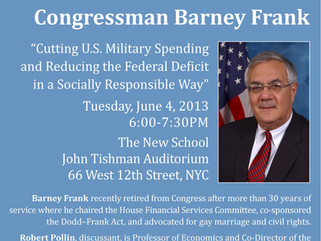 Barney Frank: Cutting Military Spending and Reducing the Federal Deficit in a Socially Responsible W