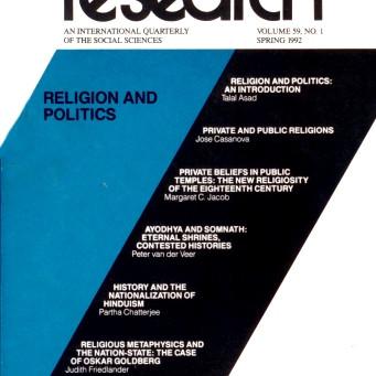 RELIGION AND POLITICS / Vol. 59, No. 1 (Spring 1992)