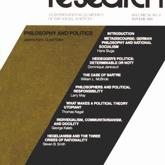 PHILOSOPHY AND POLITICS / Vol. 56, No. 4 (Winter 1989)