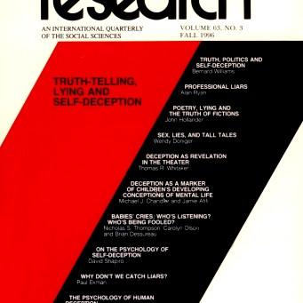 TRUTH-TELLING, LYING AND SELF-DECEPTION / Vol. 63, No. 3 (Fall 1996)