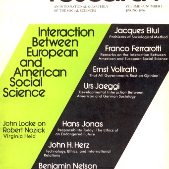 INTERACTION BETWEEN EUROPEAN AND AMERICAN SOCIAL SCIENCE / Vol. 43, No. 1 (Spring 1976)