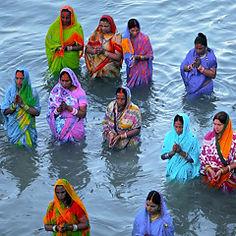 Chhatta puja à Siliguri - Inde.jpg