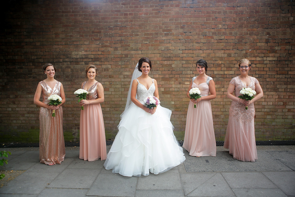 Group shot of Bride with Bridesmaids