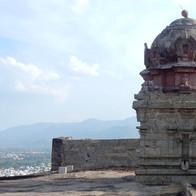 De tempel op de rots in Dindigul