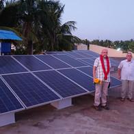 In Vedapatti hebben wij zonnepanelen laten plaatsen