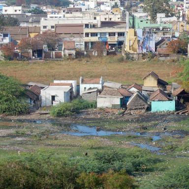 Typische stedenbouw in Dindigul