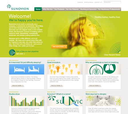 Sunovion Rebrand and Site Concepts