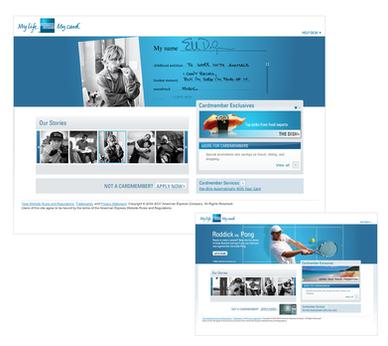 My Life My Card Site Design