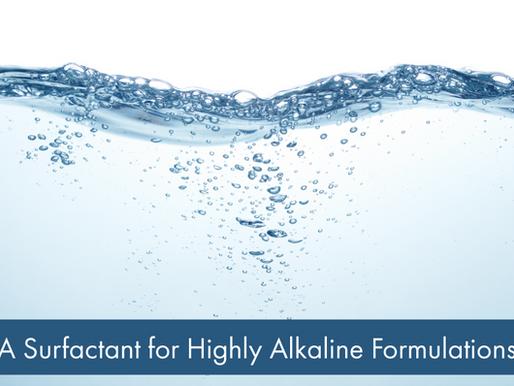 A Surfactant for Highly Alkaline Formulations