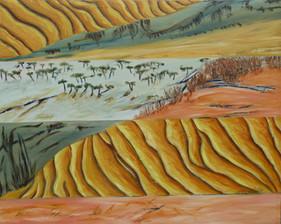 Great sandy desert 152 x 120 cm.