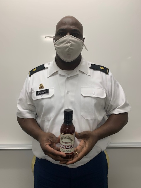 JROTC instructor markets his own wing sauce