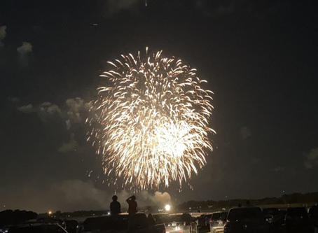 Fireworks at Benderson Park lit the sky, brightened spirits