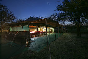 Dinner under the African sky