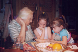 Auntie Mary with Emma and Louise