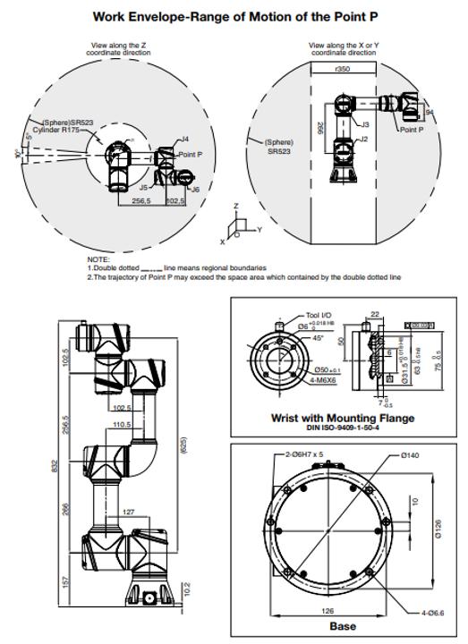 Aubo i3 Arbeitsraum, AUBO i3, Cobot, Roboter