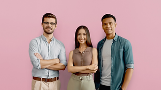 Pink background 3 young people smiling.png