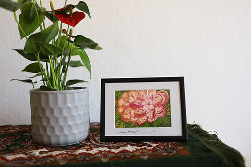Tropical flowers painting