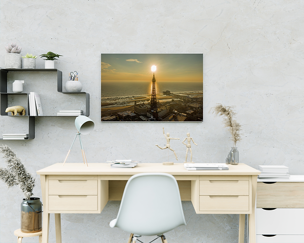 Blackpool tower sunset
