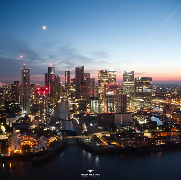 Canary Wharf London Shot on our DJI Mavic Zoom