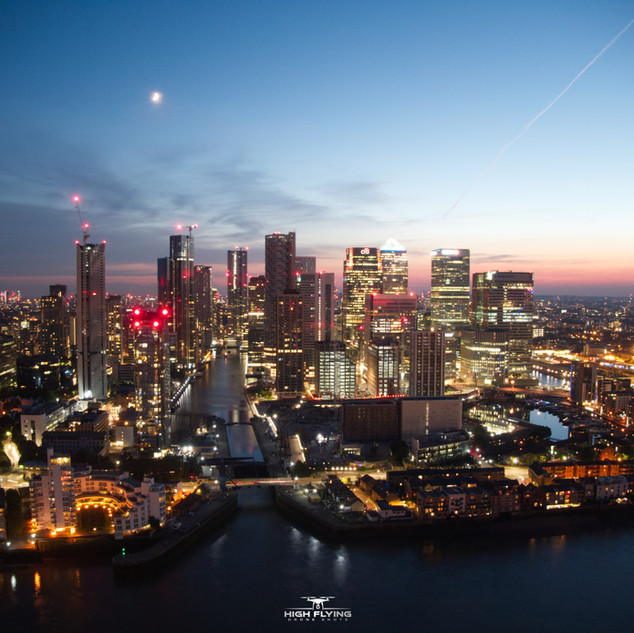 Canary Wharf London Shot on our DJI Mavic Zoom
