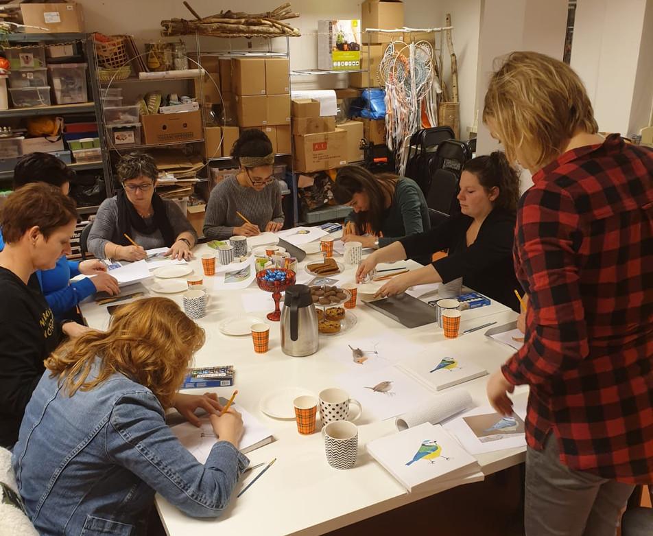 workshop vogel schilderen