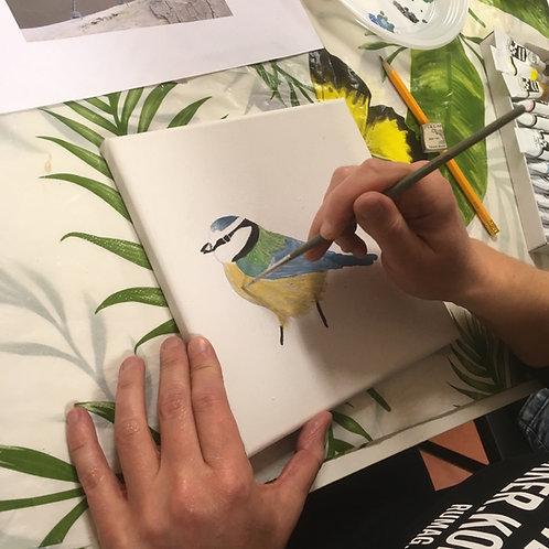 Workshop  Vogel schilderen 15 oktober