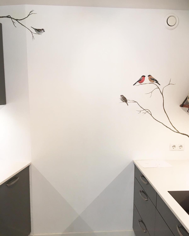 muurschildering in keuken