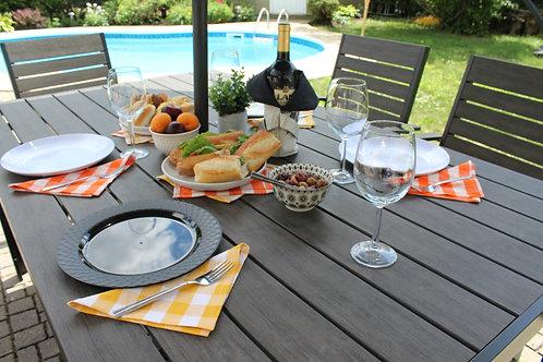 SERVIETTES DE TABLE RÉUTILISABLES/LAVABLES - COULEURS #1