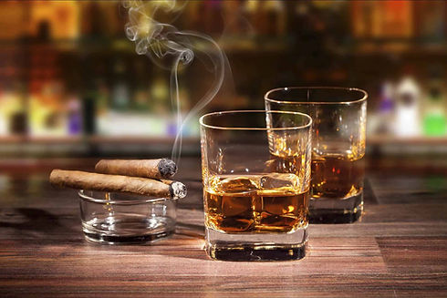 Cigars-and-whisky-is-one-of-the-easiest-