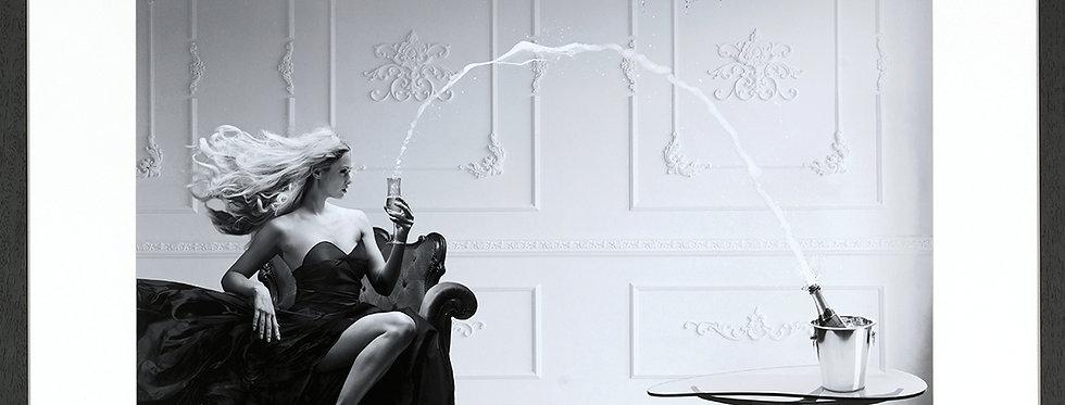 "Tableau - affiche "" Femme au champagne """