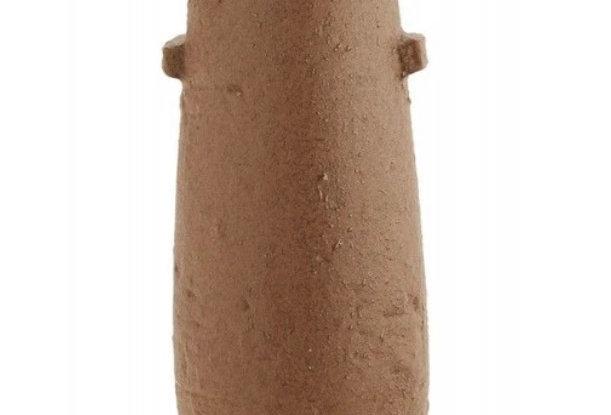 Vase grès rustique ovale terracotta