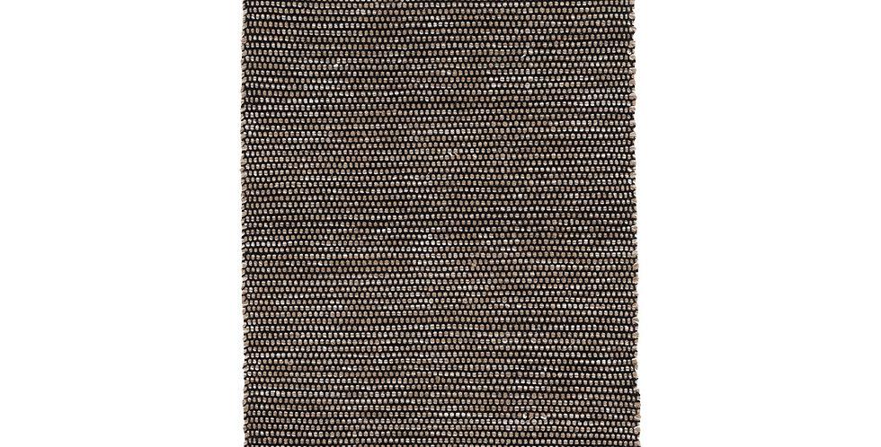 Tapis laine et coton noir/beige