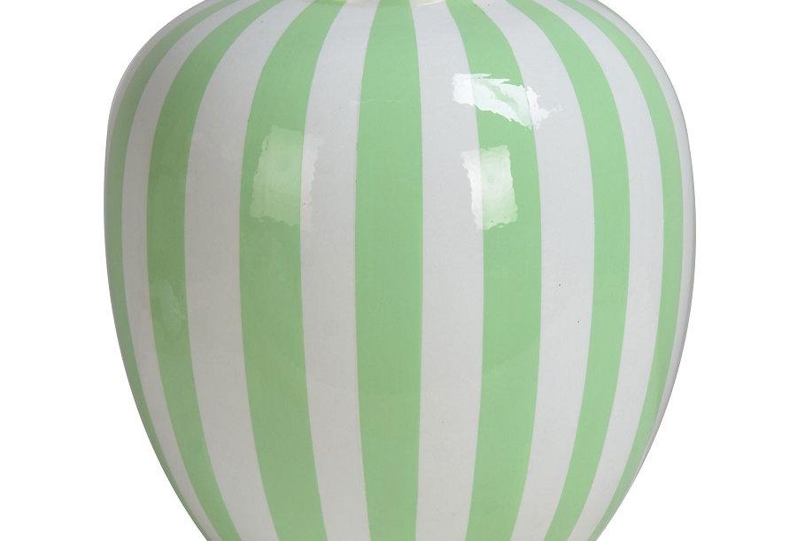 Pot Stripe Blanc/vert